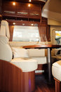 Living quarters in luxury motorhome a Stock Images