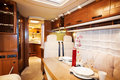 Living quarters in luxury motorhome a Royalty Free Stock Images
