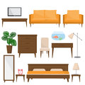 Living room, bed room and office furniture in modern style
