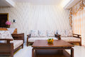 Living room the with chinese decoration Stock Photos