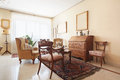 Living room, classic interior with antiquities Royalty Free Stock Photo