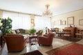 Living room classic interior with antiquities italian Stock Photos