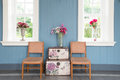 Living room series vintage in house Stock Image