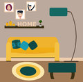 Living room vector illustration.