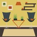 Living room vector illustration.