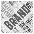 Living Your Brand word cloud concept Royalty Free Stock Photo