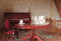 Livingroom the in a dolls house Royalty Free Stock Images