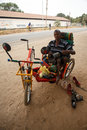 LIVINGSTONE - OCTOBER 14 2013: Local disabled man with an adapte Stock Photo