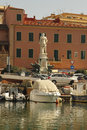 Livorno on boat in the small port city of Royalty Free Stock Photography
