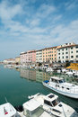 Livorno town italy canals and boats in the historic center of the city of region of tuscany Royalty Free Stock Photo