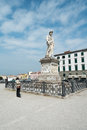 Livorno town italy monument of quattro mori in region of tuscany Royalty Free Stock Photos