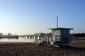 Livvakt hut på marina del rey beach los angeles usa Arkivfoton