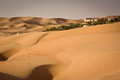 Liwa sands near abu dhabi desert resort in the oasis Stock Photo