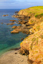 Lizard point cornwall uk is the southernmost of the united kingdom mainland Royalty Free Stock Photo