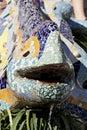 Lizard Sculpture At Parc Guell