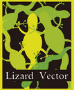 Lizard vector Royalty Free Stock Images