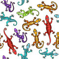 Lizards. Seamless Abstract background. Vector pattern.