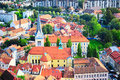 Ljubljana aerial view Royalty Free Stock Images