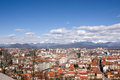 Ljubljana aerial view over the city of in slovenia Stock Images