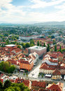 Ljubljana city skyline of center slovenia Stock Image