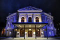 Ljubljana opera house at night Royalty Free Stock Photo