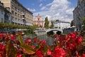Ljubljana triple bridge Royalty Free Stock Images
