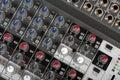 Ljudsignal kontrollkonsol Arkivfoto