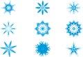Ljus snow för blå flake Royaltyfri Fotografi