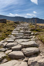 Llanberis path to snowdon mountain in north wales Royalty Free Stock Photography
