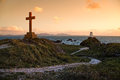 Llanddwyn island ynys is a magical place located at the far end of a pleasant beach near newborough warren this narrow Stock Images