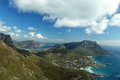 Llandudno aerial view of a suburb of cape town in the background the bay of hout bay another suburb of cape town south africa Stock Photography