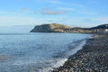 Llandudno wales on a cold winters day Stock Image