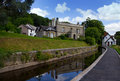 Llangollen canal view of the in the welsh countryside Stock Images