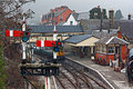 Llangollen railway station, Denbighshire, Wales, UK. Royalty Free Stock Image