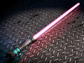 Laser sword on floor