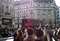 Llifestyle in london daily routine big city taken at oxford street england Stock Photo