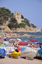 Lloret de mar beach ,costa brava Stock Image
