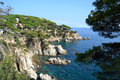 Lloret de mar spain landscape in catalonia Stock Photos
