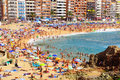 Lloret de mar view of seashore spain Royalty Free Stock Image