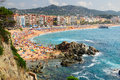 Lloret de mar view of seashore spain Stock Photography