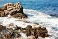 lloret mars de brava costa de landscape près de l'Espagne Image stock