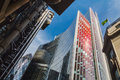 Lloyds and willis buildings and the gherkin london in s finical district building of Stock Photo