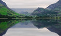 Llyn Nantlle at sunrise looking towards Snowdon Royalty Free Stock Images
