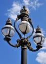 Lámpara de calle de la vendimia Imágenes de archivo libres de regalías