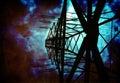 Líneas eléctricas de la alta tensión Foto de archivo libre de regalías