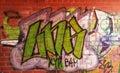 LNK graffitti Royalty Free Stock Photo