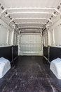Load compartment interior of the empty of a white van Royalty Free Stock Image
