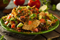 Loaded Beef and Cheese Nachos Royalty Free Stock Photo