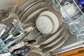 Loaded Dishwasher Stock Image