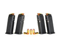 Loaded magazines high capacity handgun and bullets Stock Photography